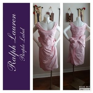Pink Ralph Lauren purple label 100% Silk Dress.